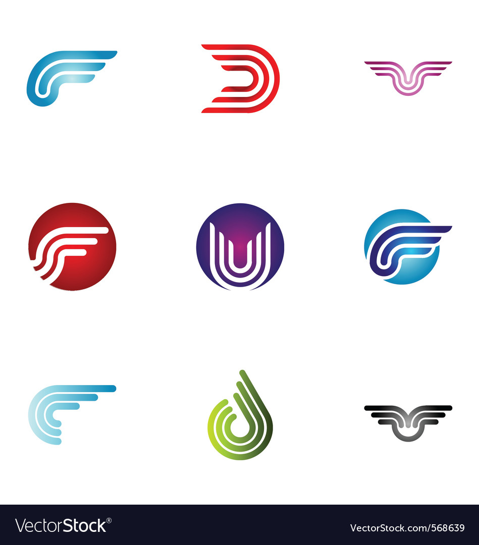 Logo design elements set 37 vector