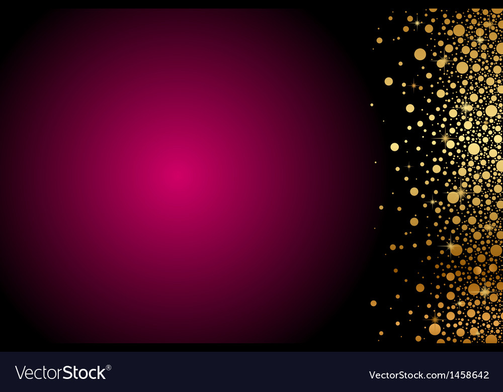 Maroon background gold decoration vector