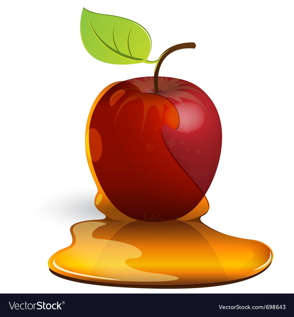 Caramel apple vector