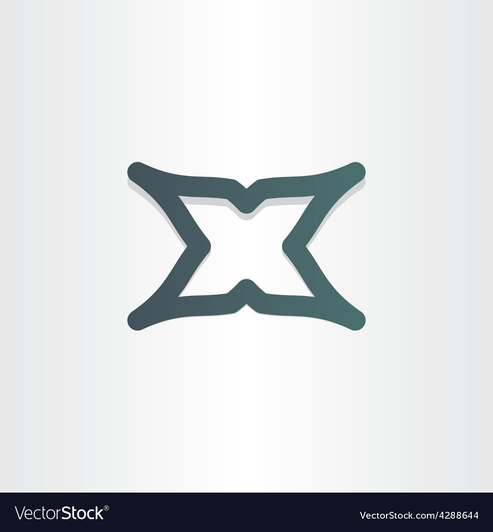 Letter x character abstract icon design vector