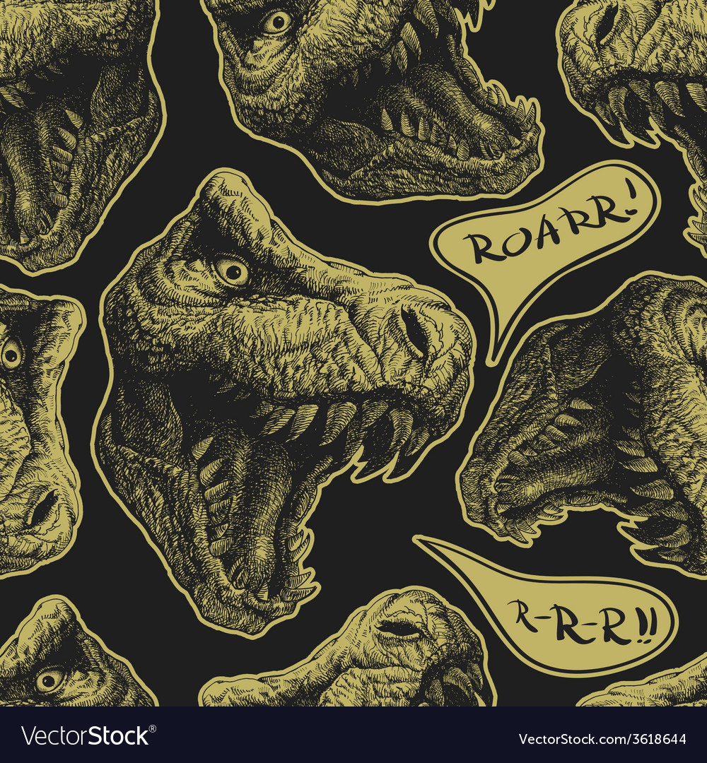 Trex seamless background eps8 vector