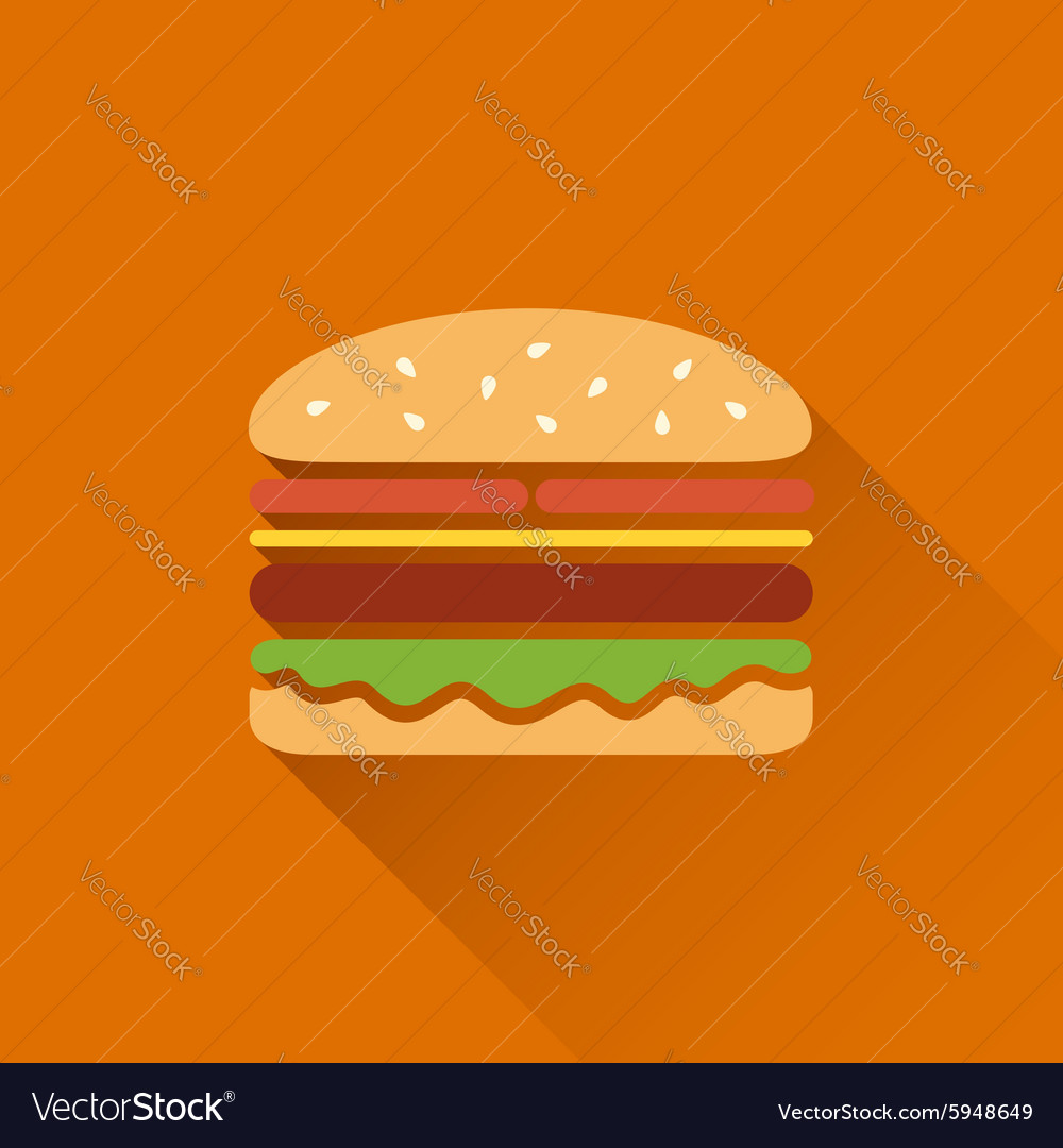 Flat hamburger symbol vector