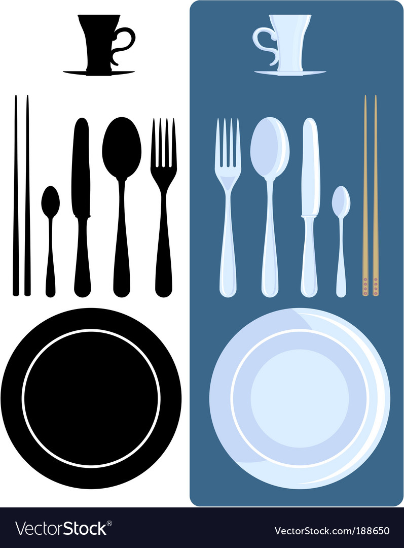 Cutlery icons vector