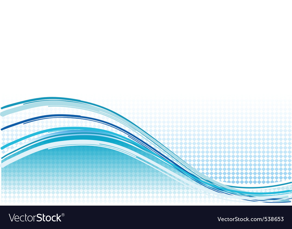 Blue wave background with lines vector