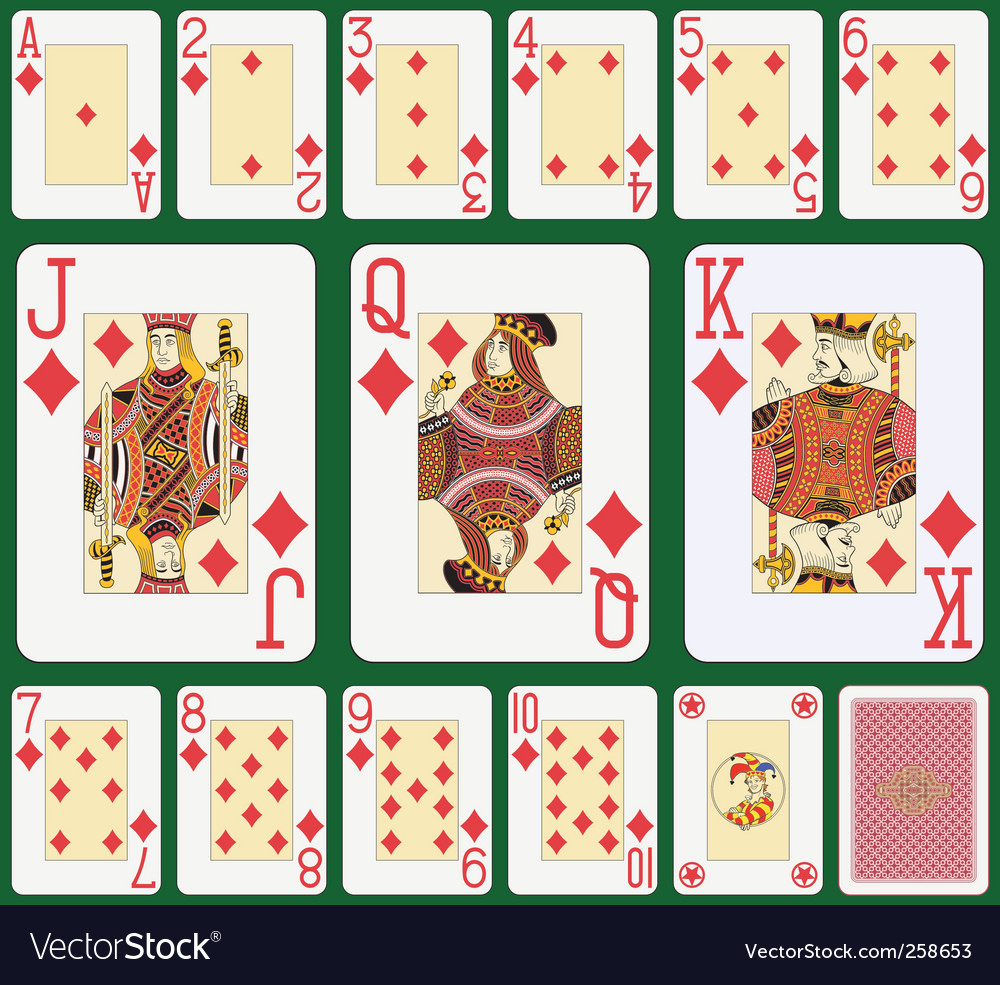 Diamond playing cards vector