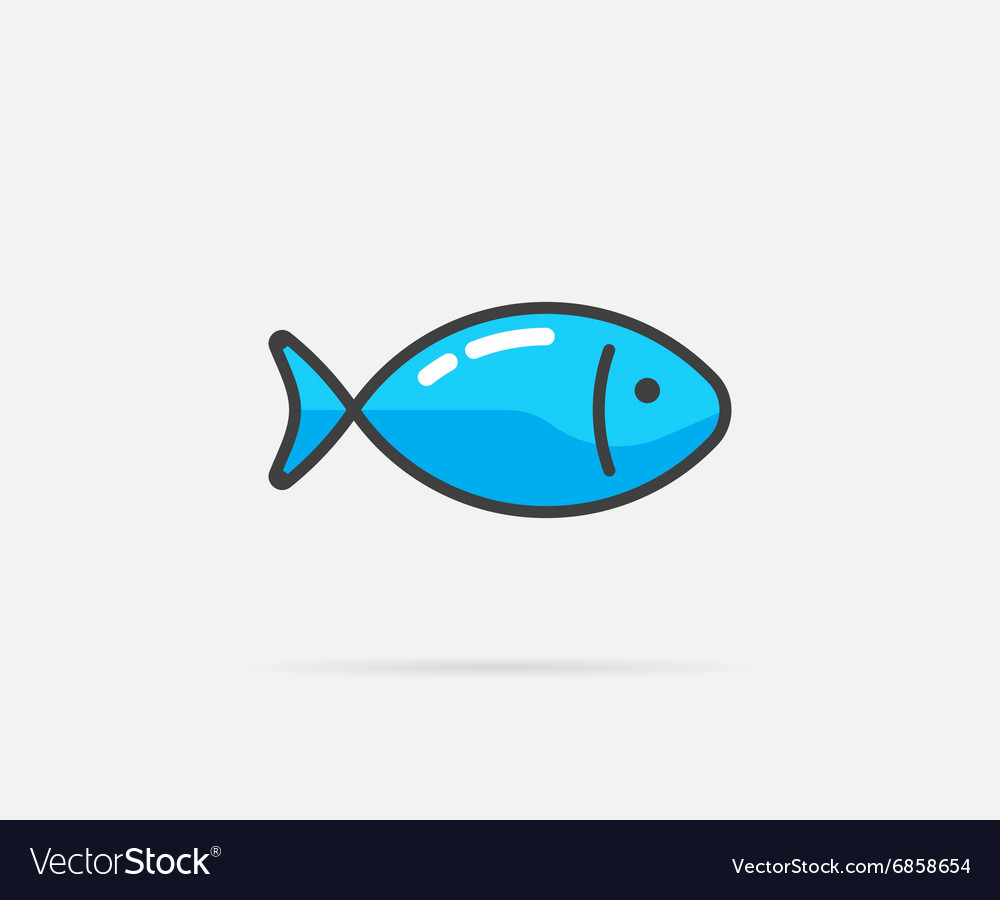 Fish can be used as logo or icon vector
