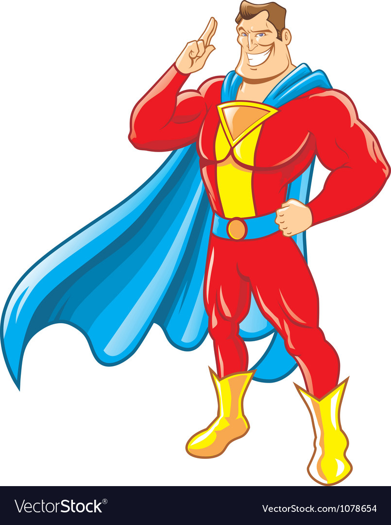 Superhero vector