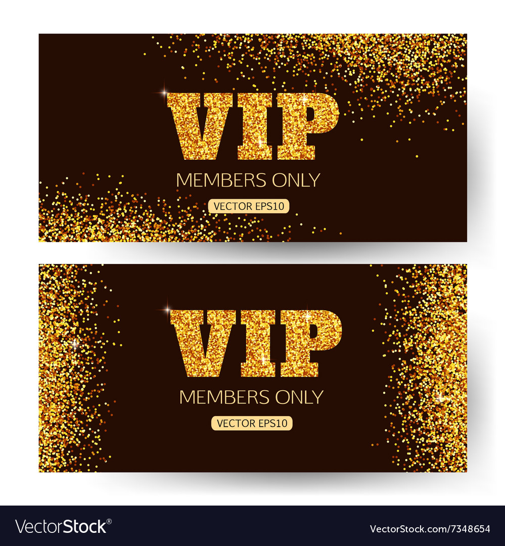 Vip banners vip banner vip banner design vector