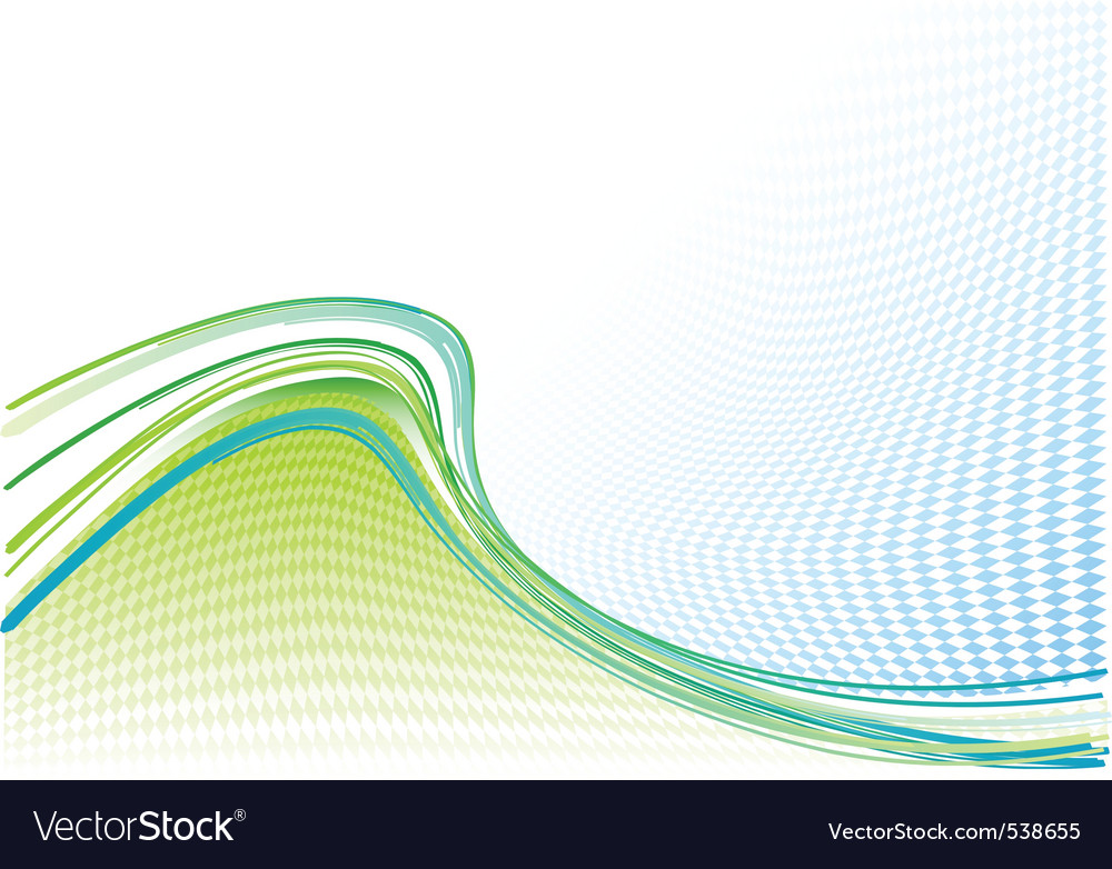 Blue and green wavy background vector