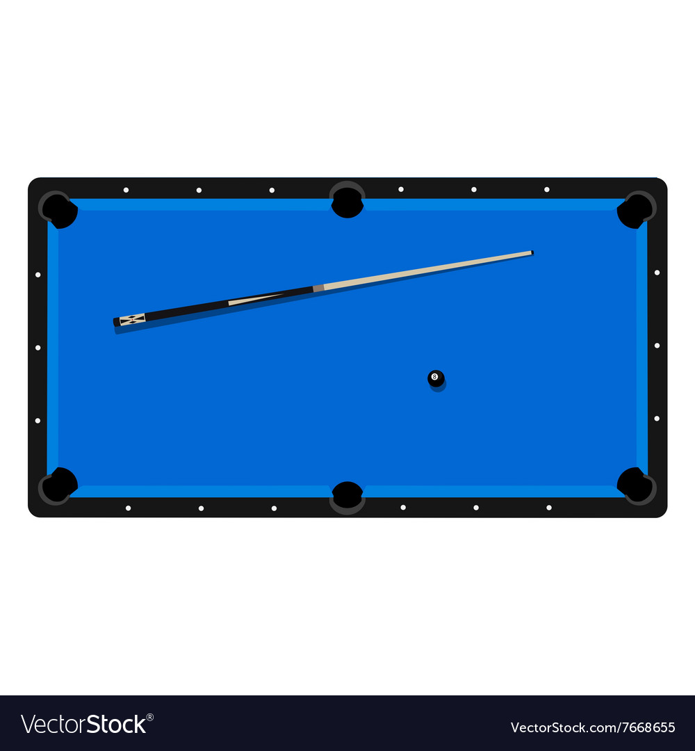 Pool table clue and ball vector