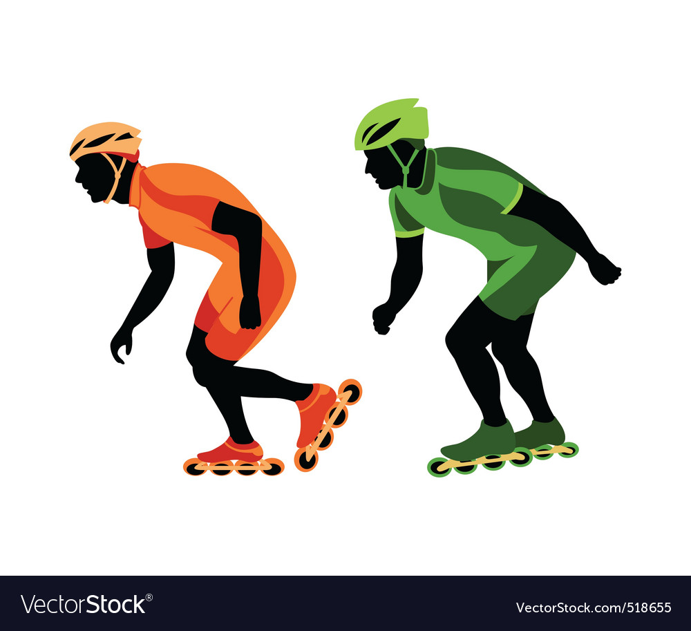 Speed skating vector