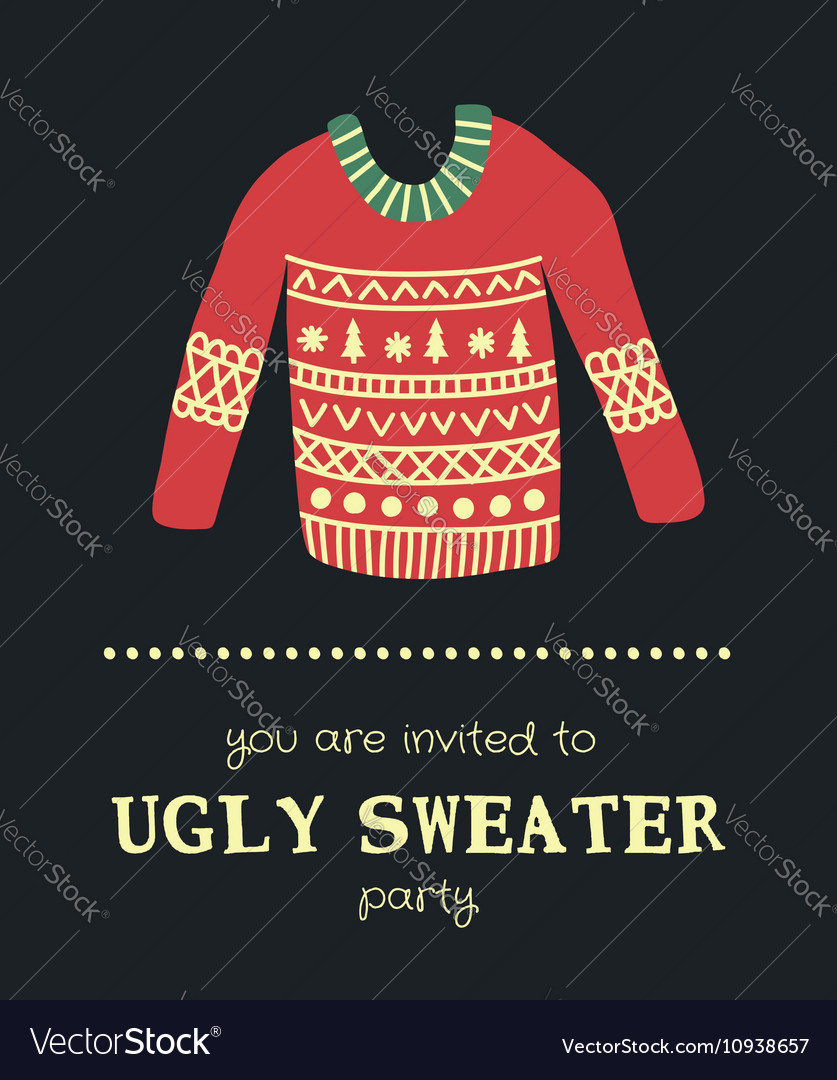 Sweater invitation 4 vector