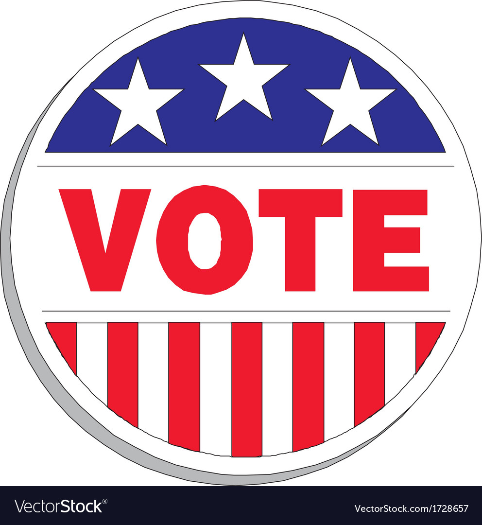 United states election vote button vector