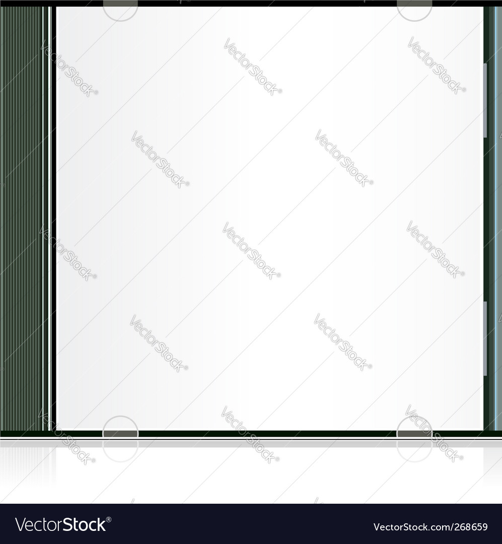 Blank cd box vector