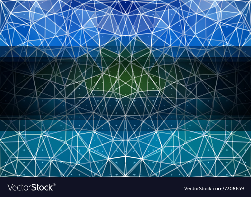 Colorful triangle background with banner vector