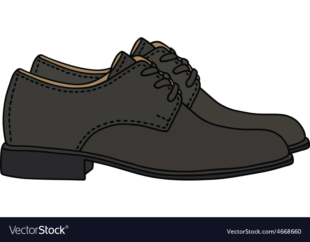 Black shoes vector