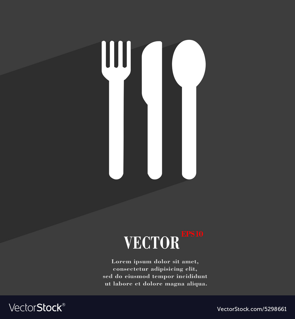 Fork knife spoon icon symbol flat modern web vector
