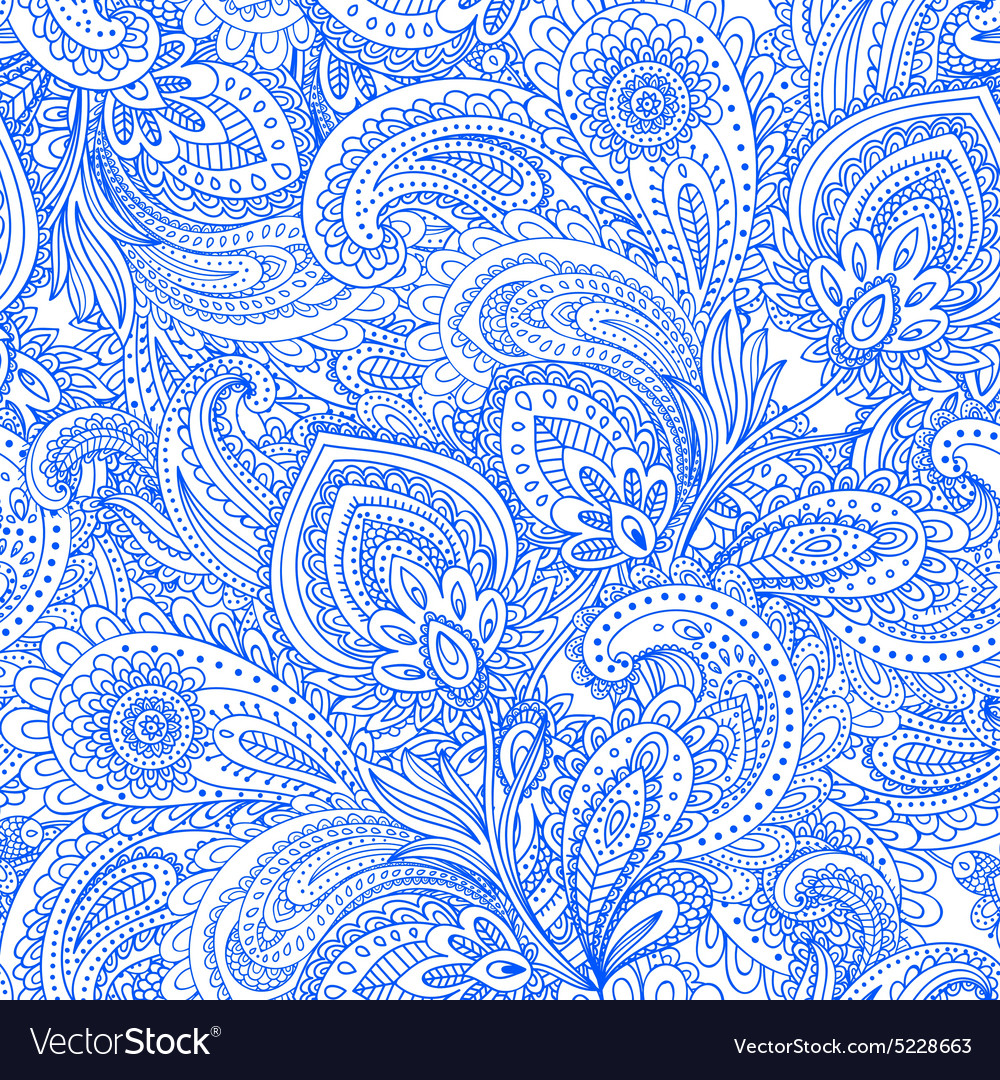 Beautiful floral leaf seamless pattern vector