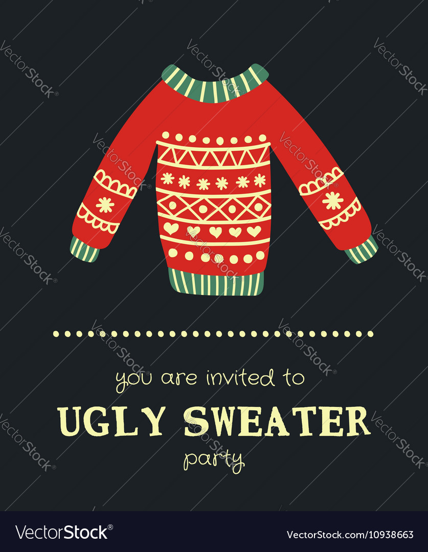 Sweater invitation 5 vector