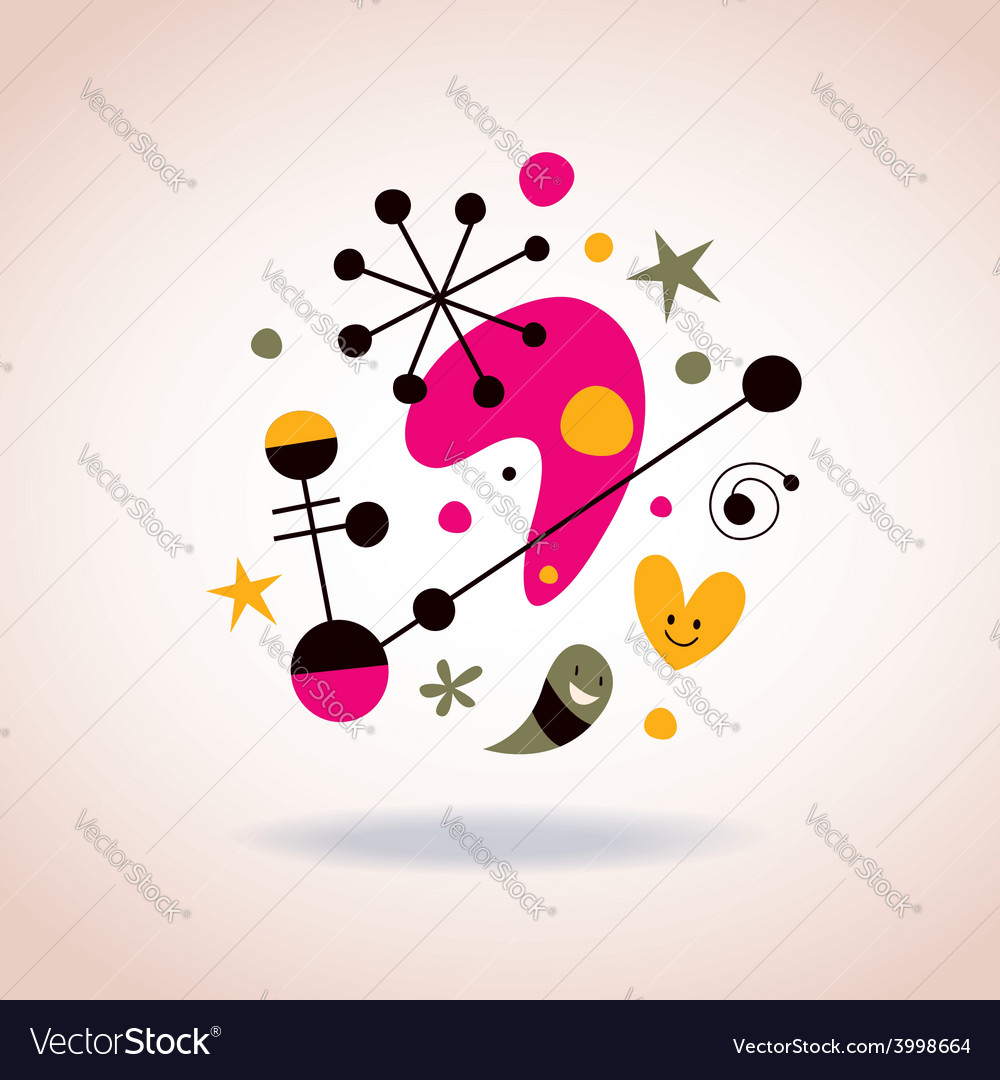 Abstract art 5 vector