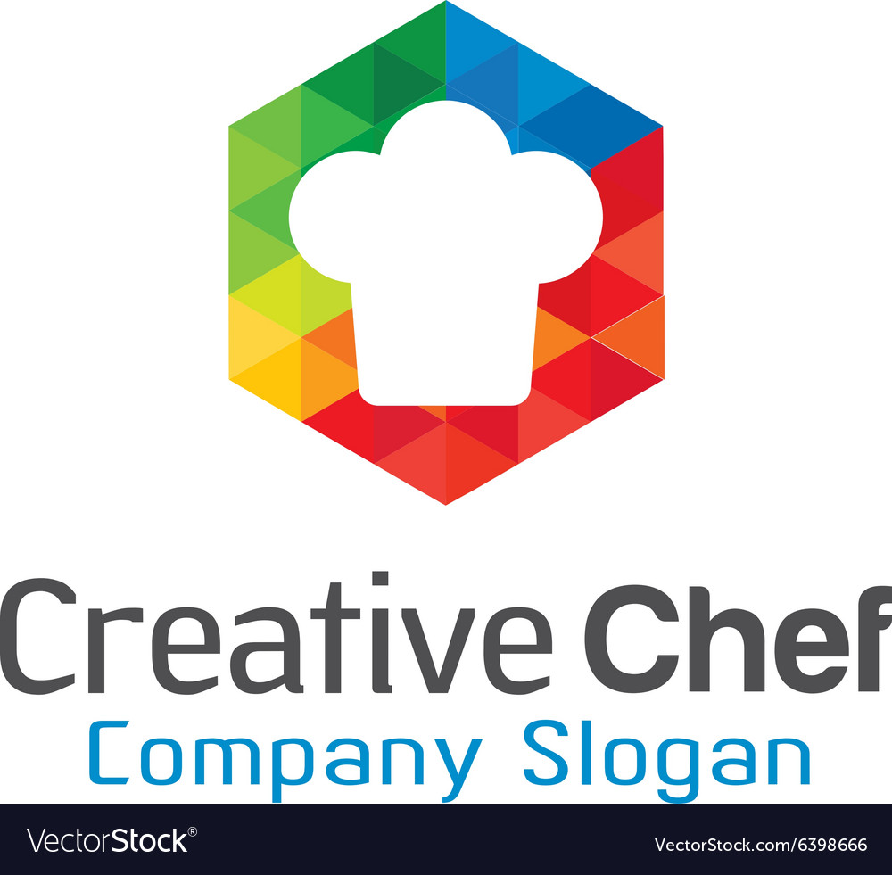 Creative chef design vector