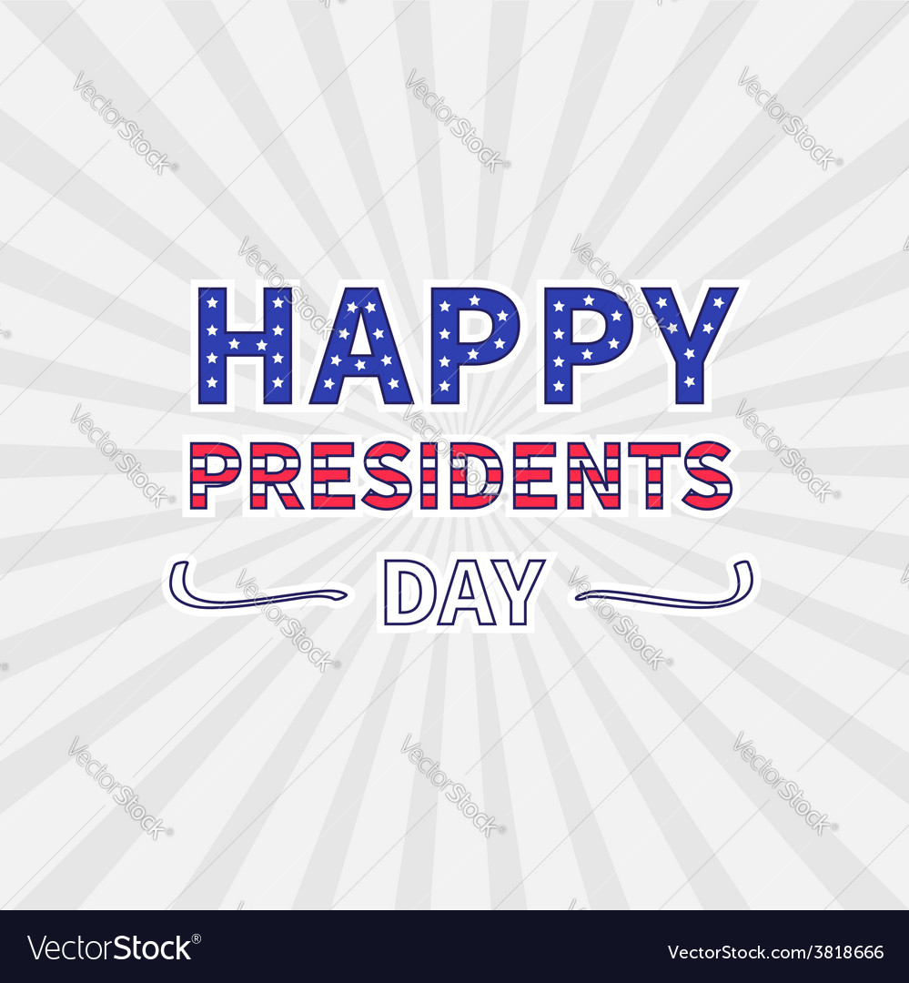 Gray sunburst with ray of light presidents day vector