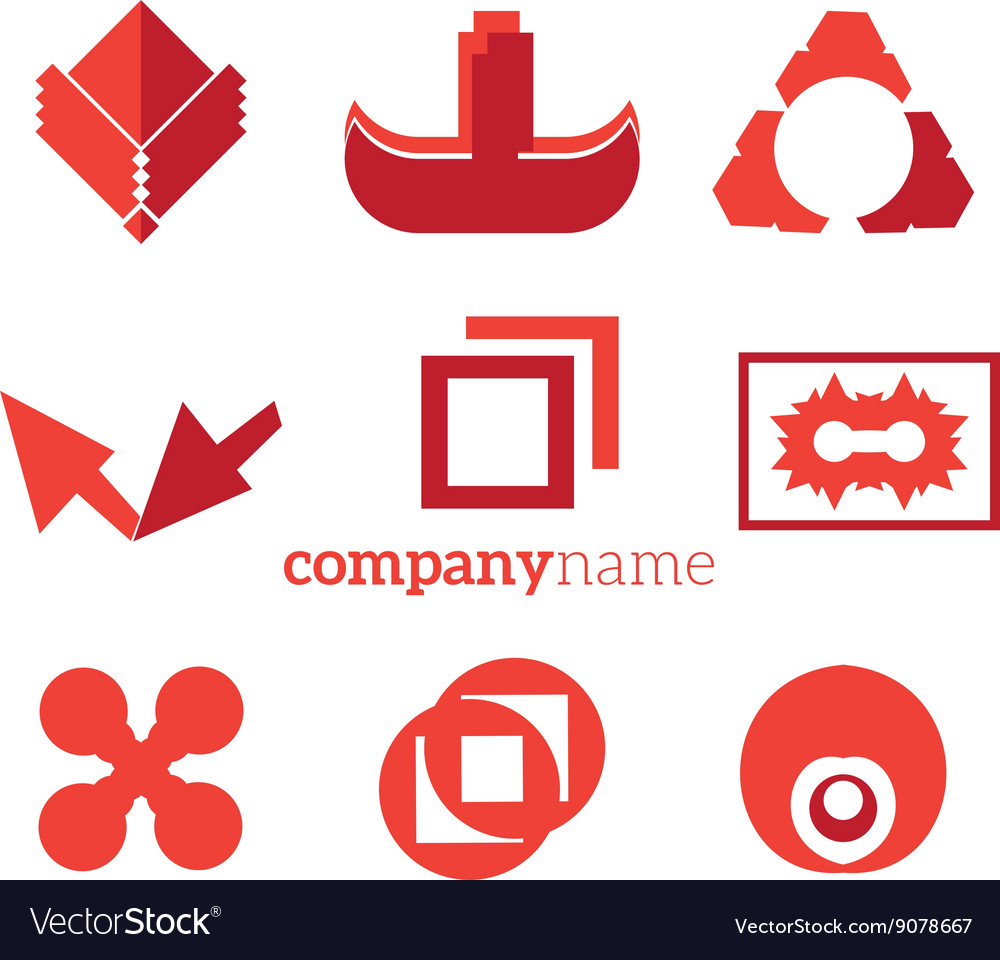 Objects logo elements vector