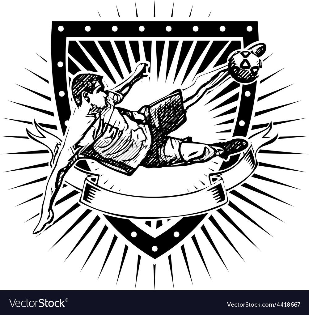 Soccer shield 2 vector