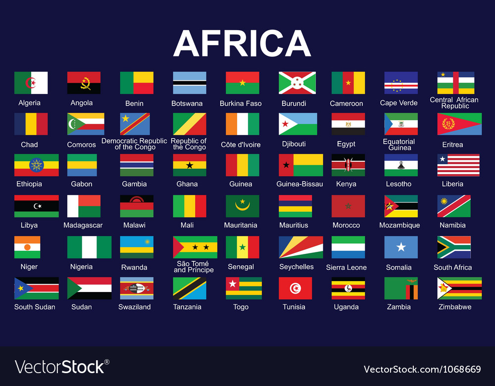 Flags of africa vector