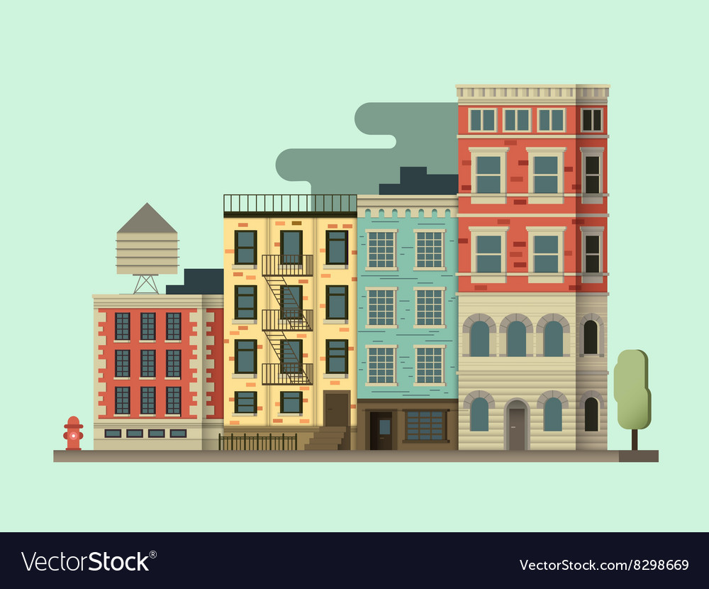 New york city building vector