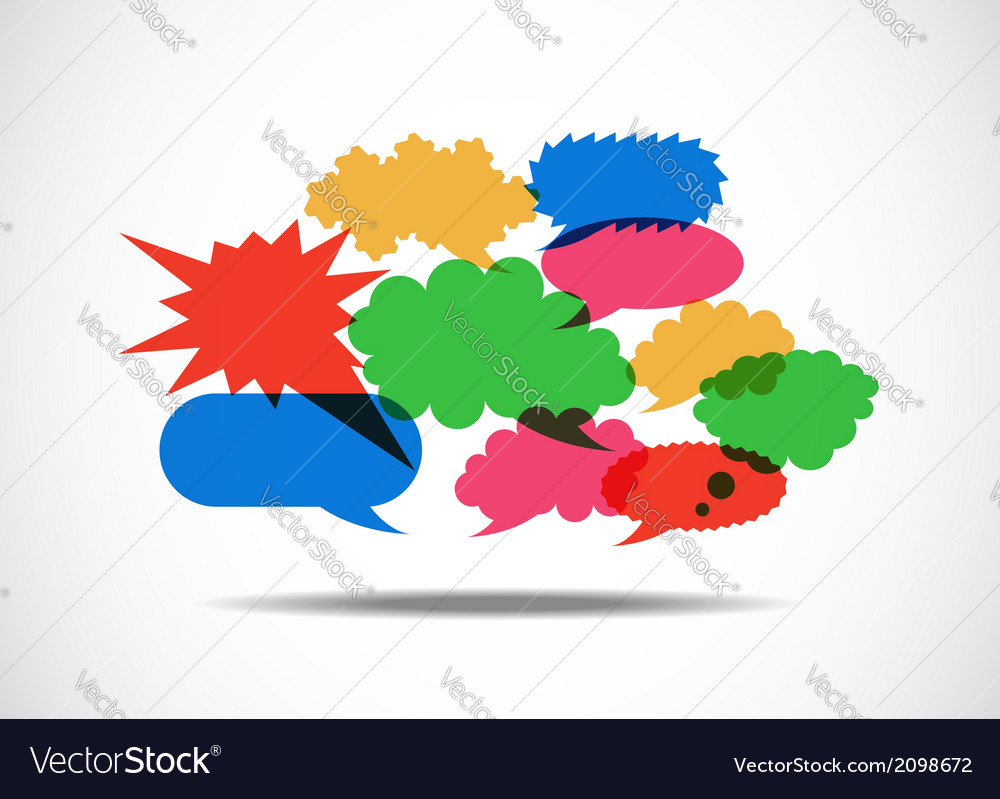 Talk balloon abstract vector