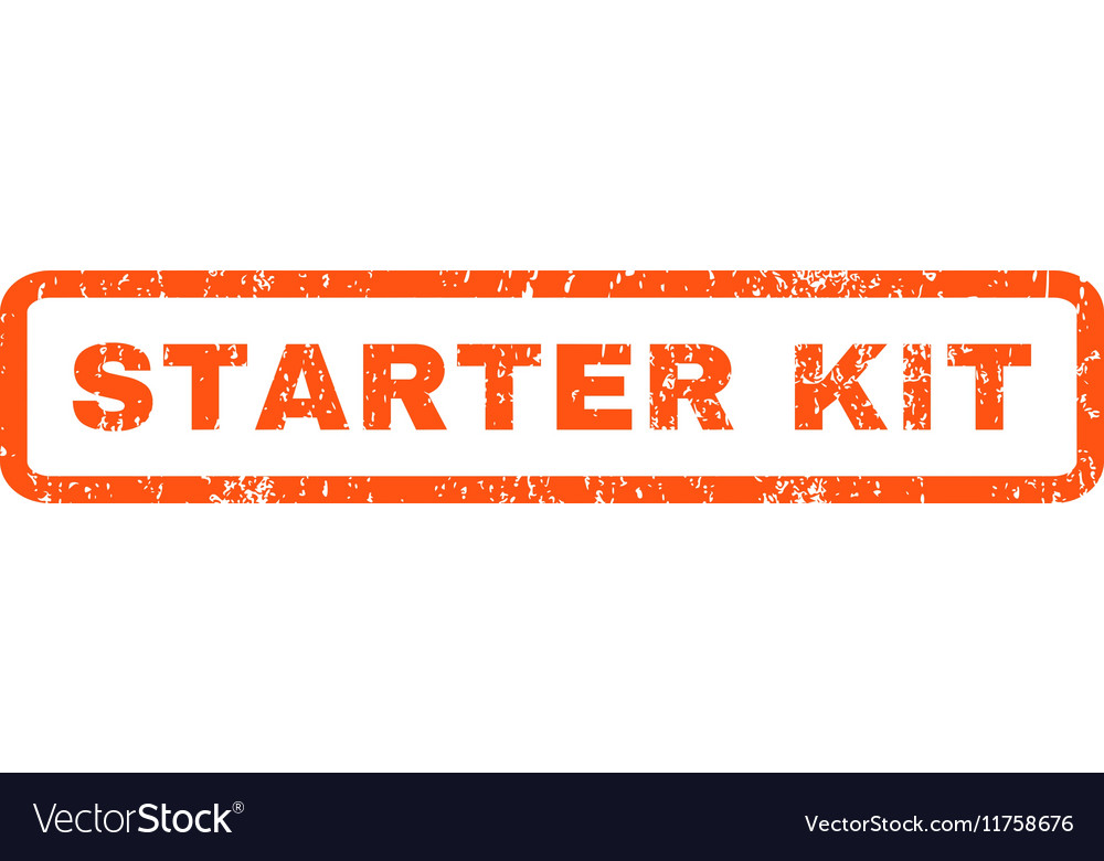 Starter kit rubber stamp vector