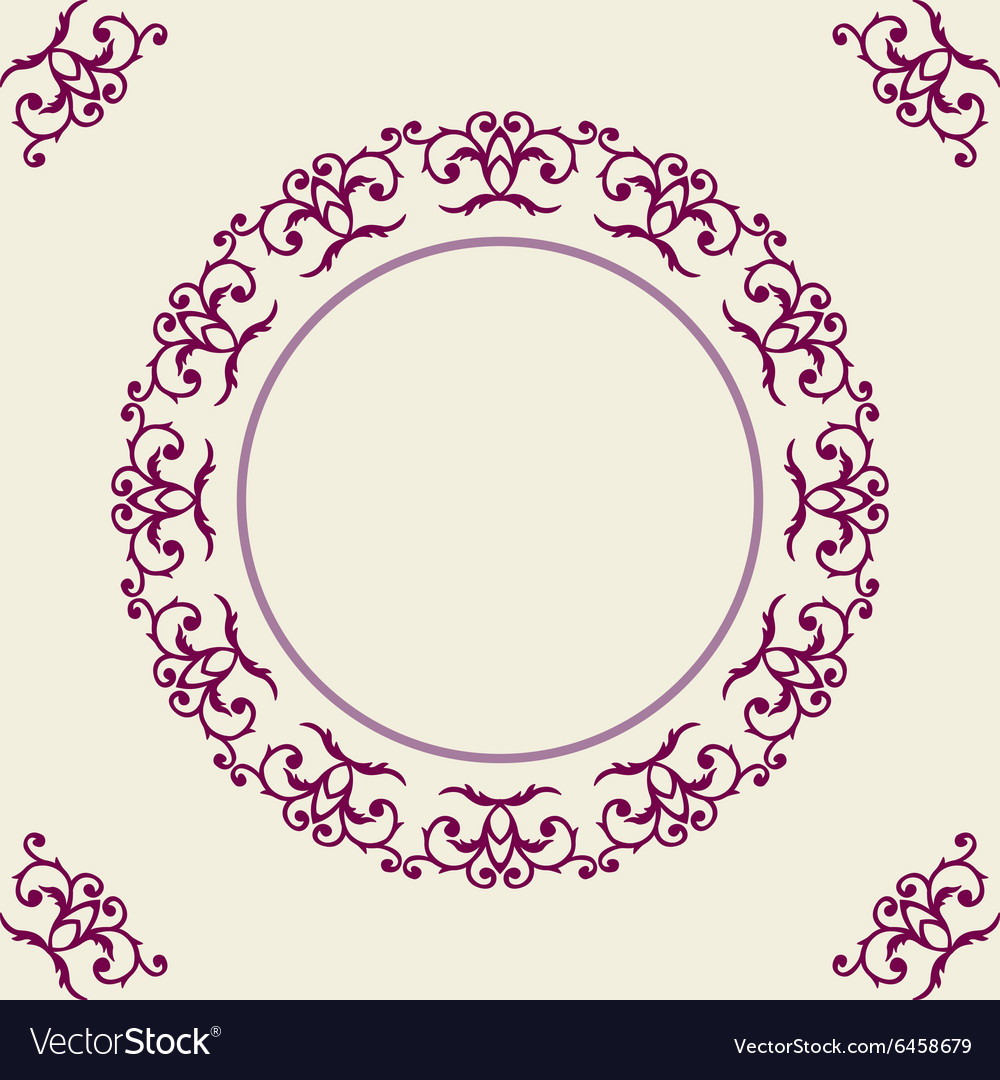 Round frame with corner vector
