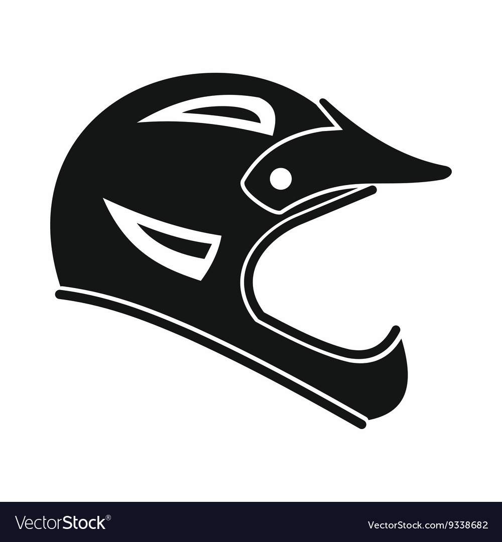 Bicycle helmet icon simple style vector