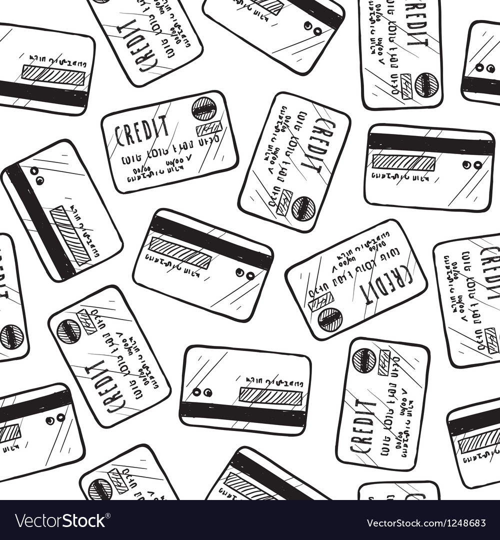 Credit card pattern vector
