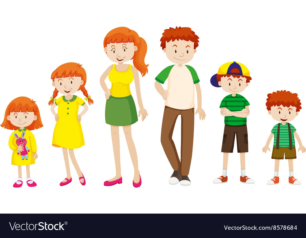 Boy and girl growing up vector