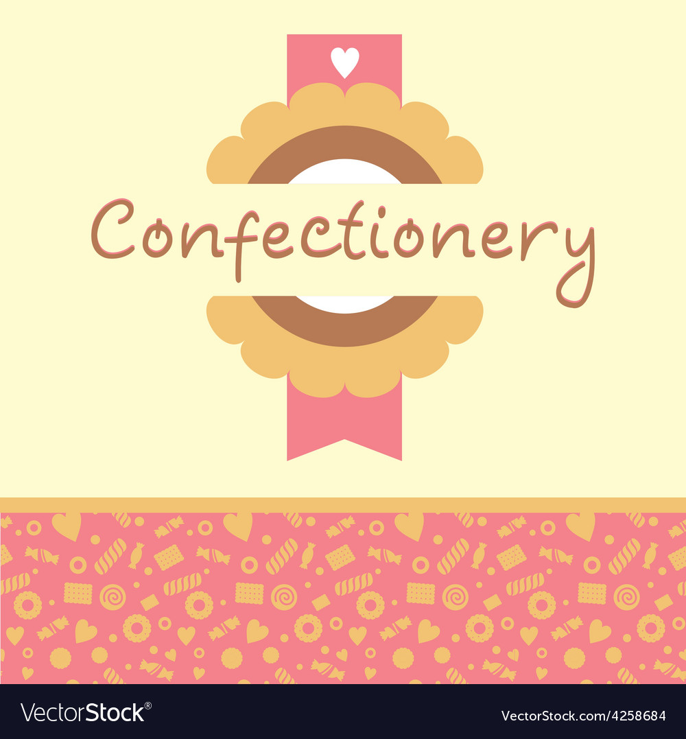 Confectionery logo and background vector