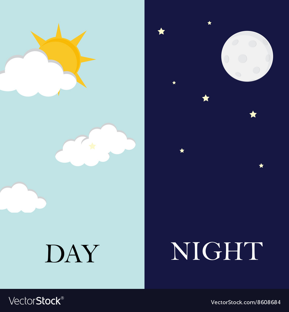 Day and night concept vector