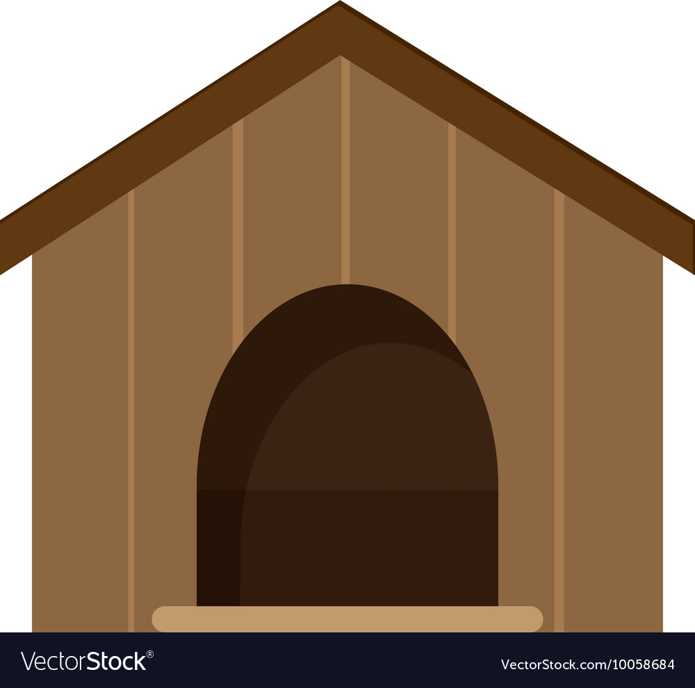 Dog house icon vector