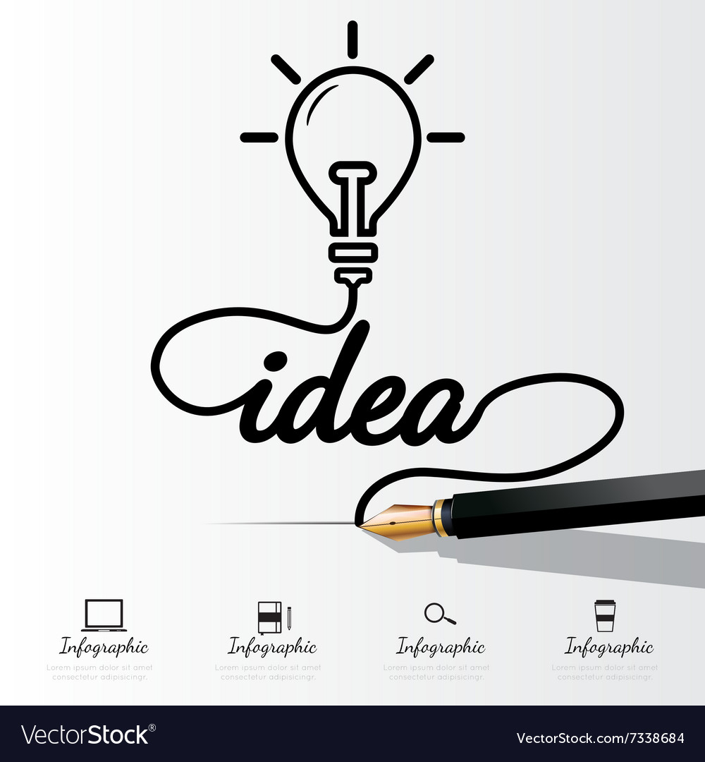 Idea concept infographic vector