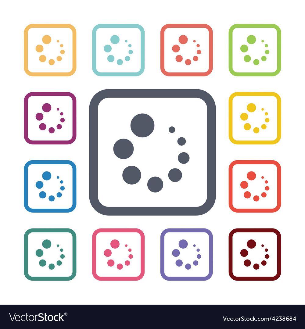 Loading flat icons set vector