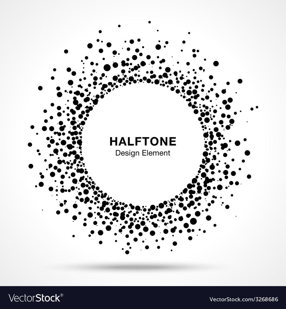 Black abstract halftone logo design element vector