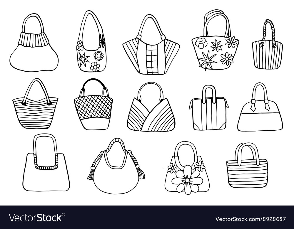Collection design handbags vector