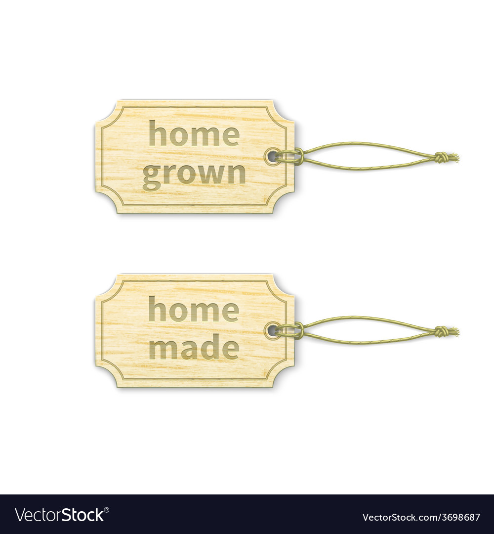Homemade tags set 13 vector
