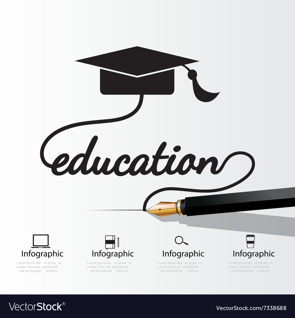 Education concept infographic vector