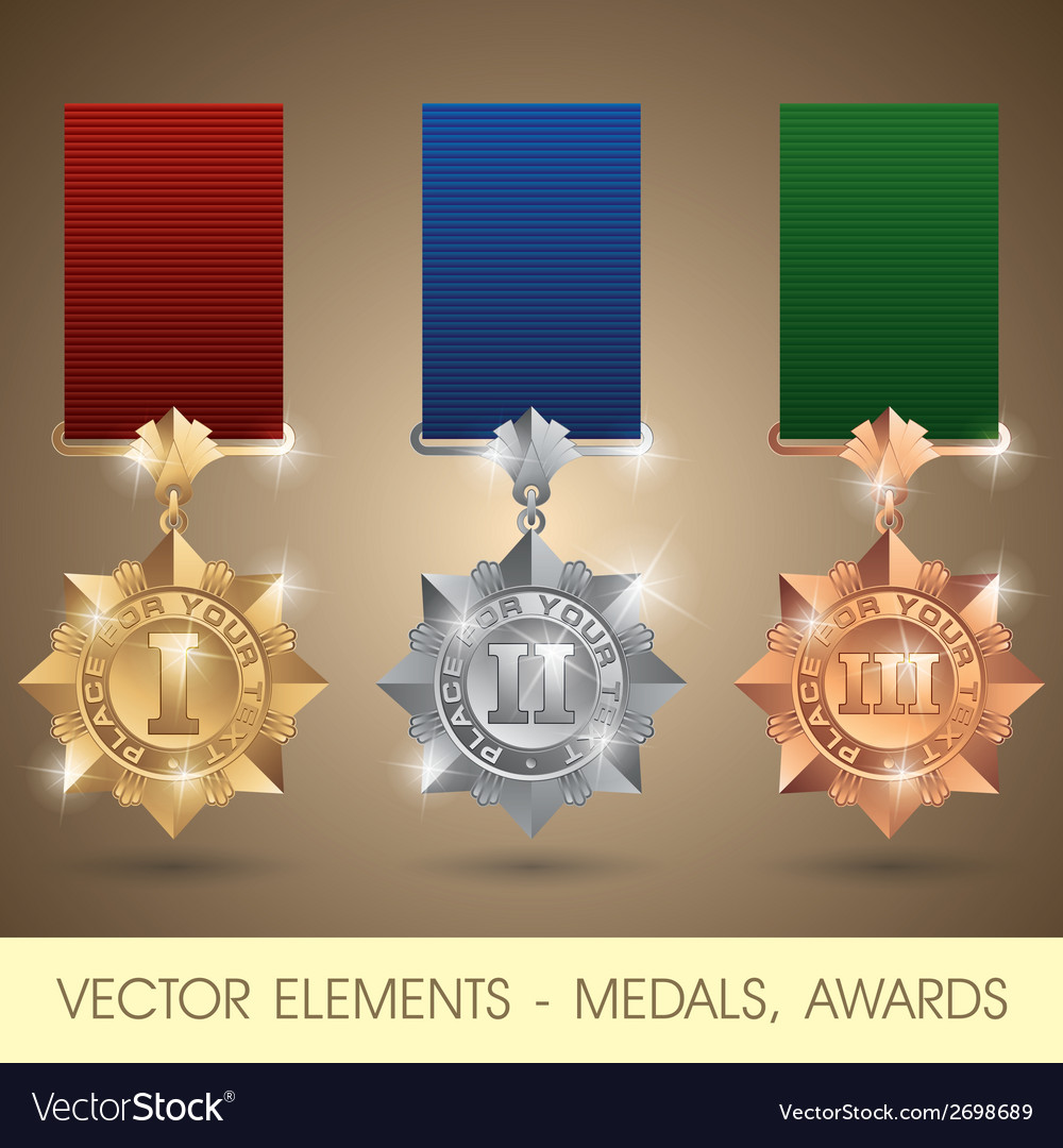 Elements  medals awards vector