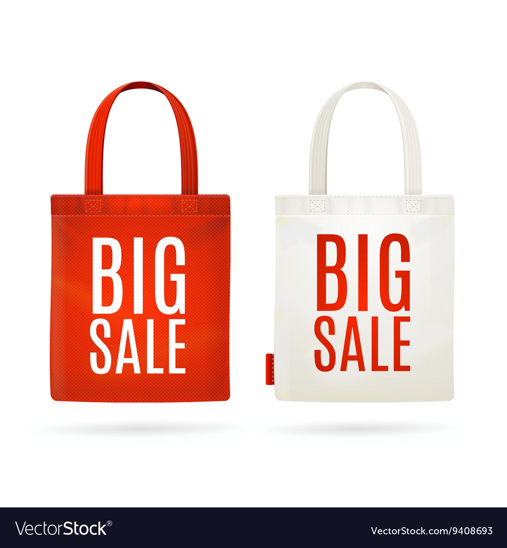 Sale eco bag set vector
