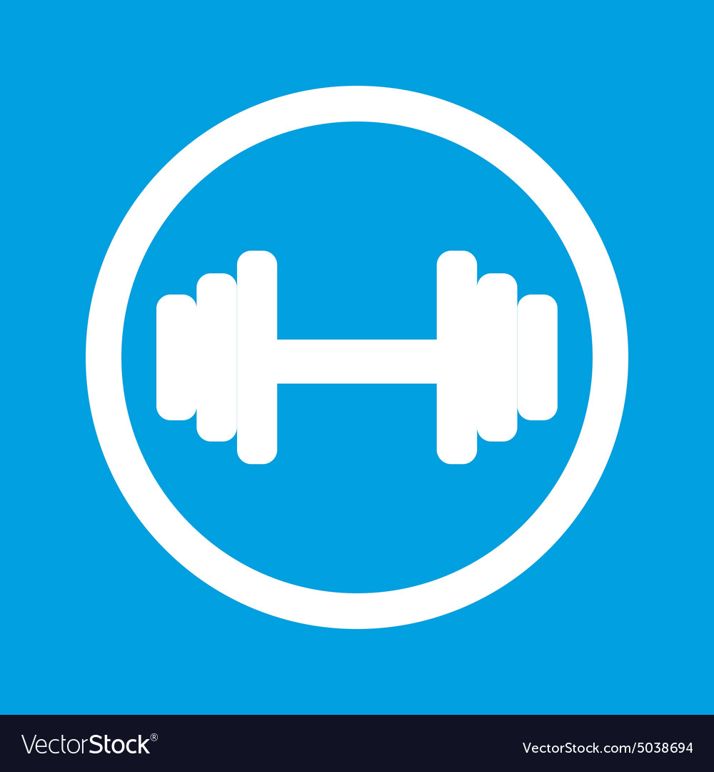 Barbell sign icon vector