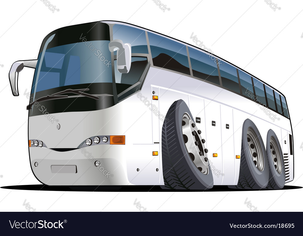 Cartoon tourist bus vector