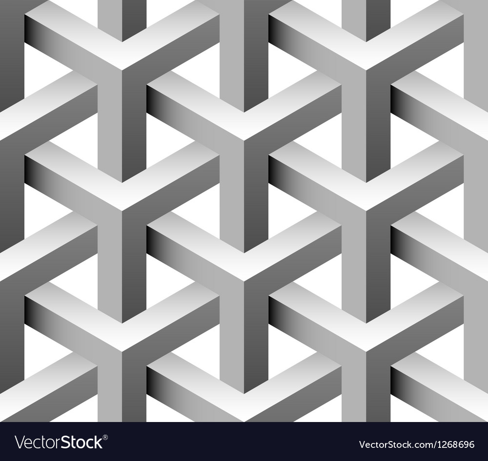 3d construction seamless pattern vector